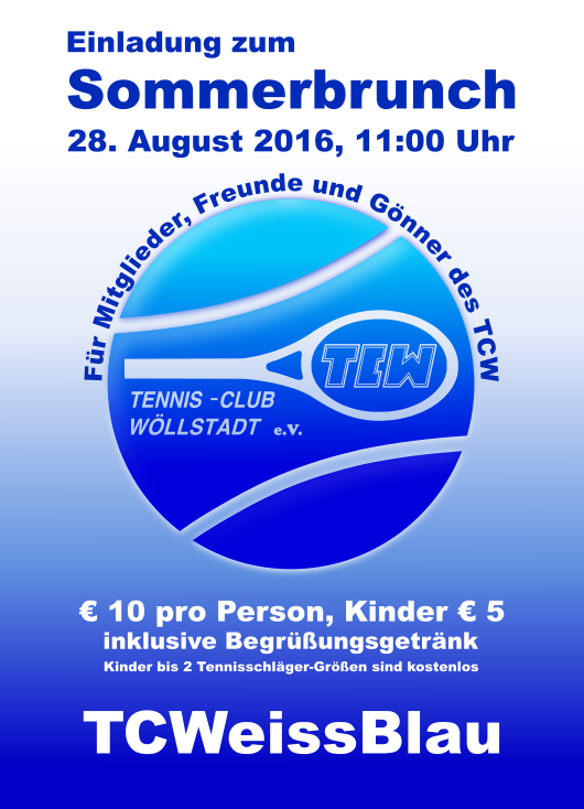 Plakat TCWeiss-Blau Sommerbrunch